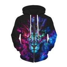 2 Muster Neue Tier Lion Zipper Hoodie 3D Harajuku Blumen Schädel Drucken Mit Kapuze Sweatshirts Frauen Männer Winter Tops Sweats Outfits