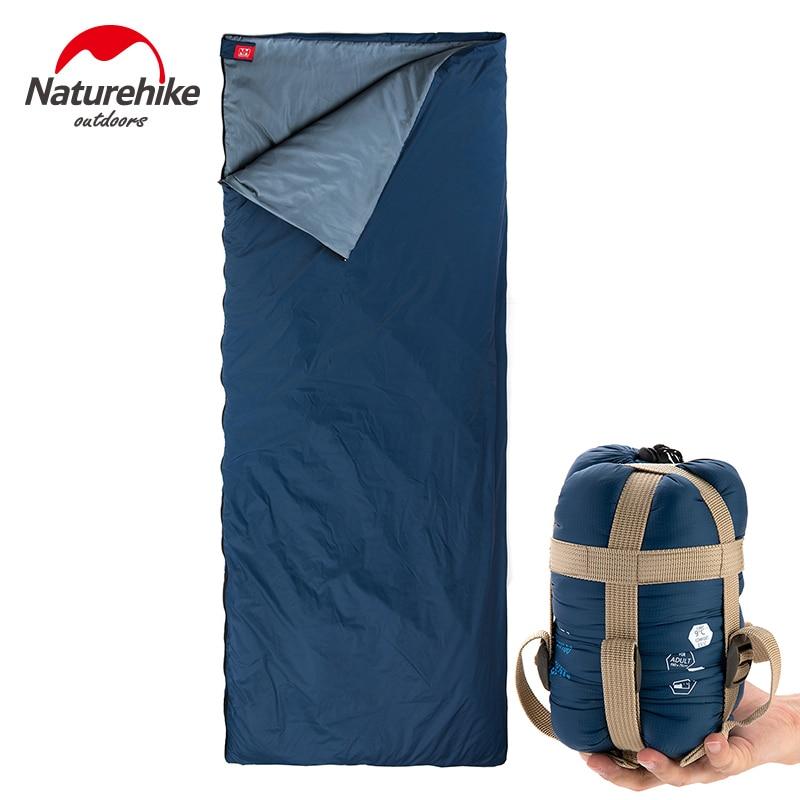 все цены на Naturehike Summer Sleeping Bag Adult Warm Wearther Envelope Cotton Plus Size Splicing Double Sleeping Bags 8-15 Degree 4 Colors онлайн