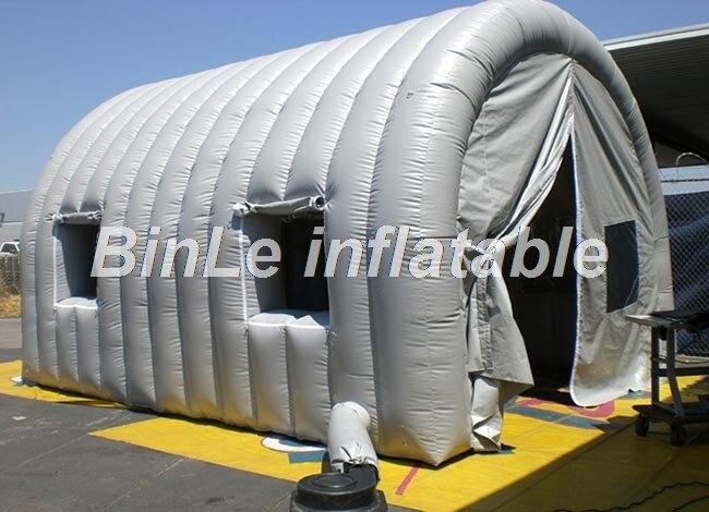 все цены на 6mLx4.6mWx4.1mH portable inflatable car garage tent inflatable paint spray booth car cover repair workshop wash shelter онлайн