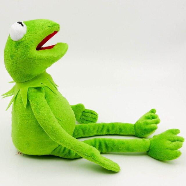 Горячая продажа 40 см плюшевый Кермит игрушки Улица Сезам куклы-лягушки чучело животное Кермит игрушка Прямая поставка праздничные подарки ...