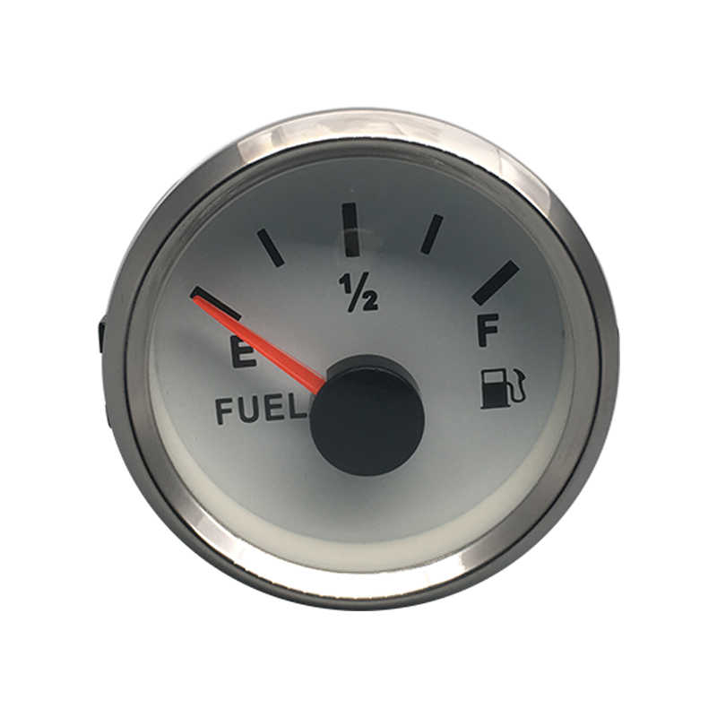 """2 """"العالمي البحرية السيارات الوقود النفط جهاز قياس مستوى الخزان متر 0-190ohm إشارة لقارب الثنية 12 V 24 V مع الأحمر الخلفية مستوى الاستشعار"""