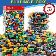 цена на 1000Pcs Building Blocks City DIY Creative Bricks Brinquedos Friends Castle Creator Sets Educational Toys for Children