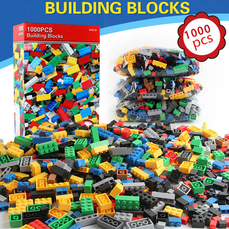 где купить 1000Pcs Building Blocks LegoING City DIY Creative Bricks Brinquedos Friends Castle Creator Sets Educational Toys for Children дешево