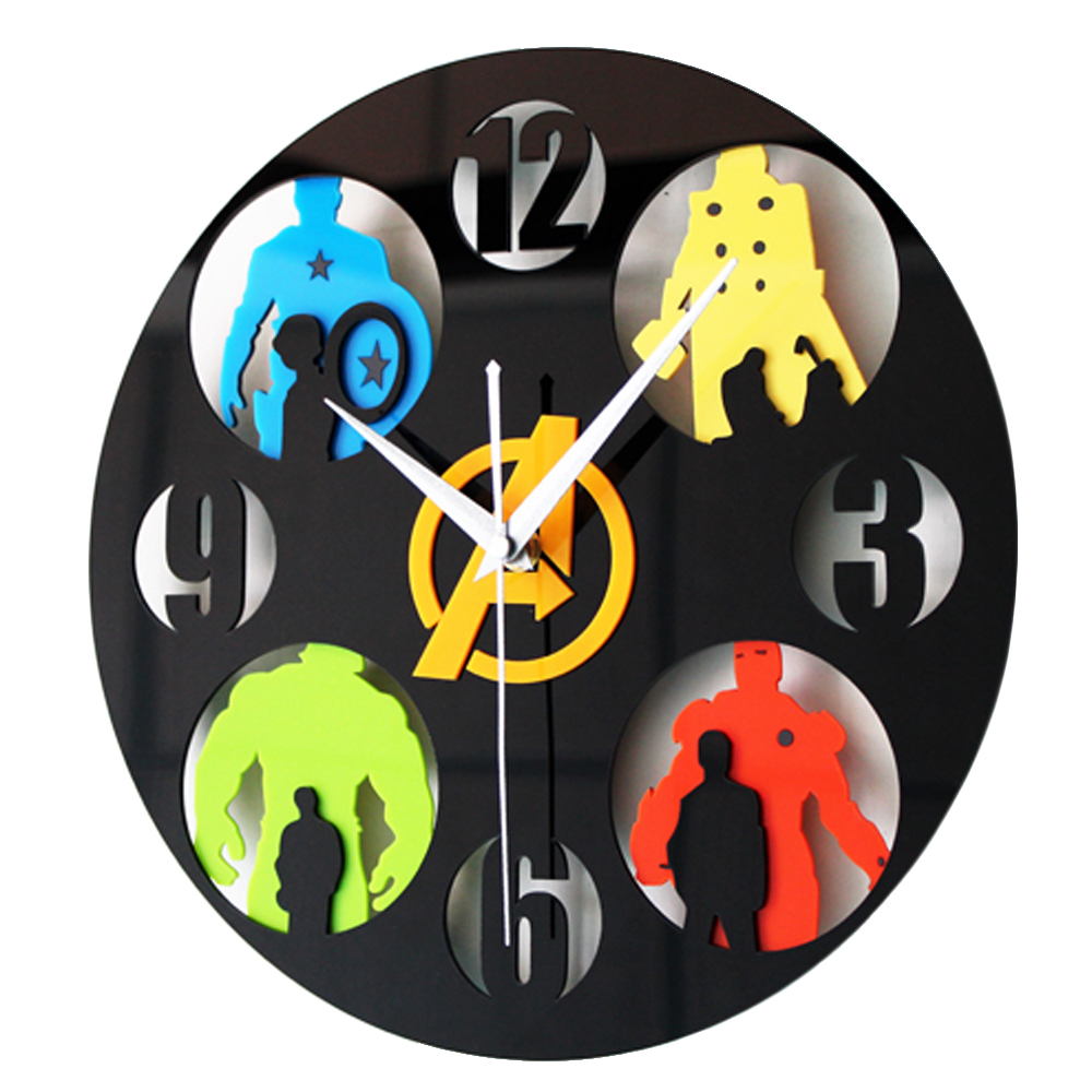 Online buy wholesale clock avenger from china clock avenger the avengers 3d wall clock home decor clocks creative art watch 12china amipublicfo Images