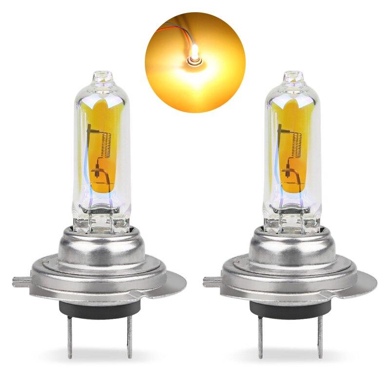 2 шт. галогенные фары H7 55W 2300k золотисто-желтые Автомобильные фары Противотуманные фары автомобильная лампа h7 55w головной свет автомобильные ...