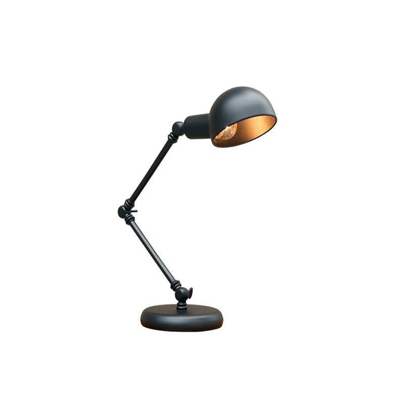 American Country Loft Industrial Style Bedroom Metal Study Reading Eye Rocker Arm LED Retro Desk Lamp