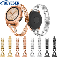 Stainless Steel Strap For Samsung Galaxy Watch active 2 Watch Metal Strap For Xiaomi huami amazfit bip Rhinestones Watch Band 40