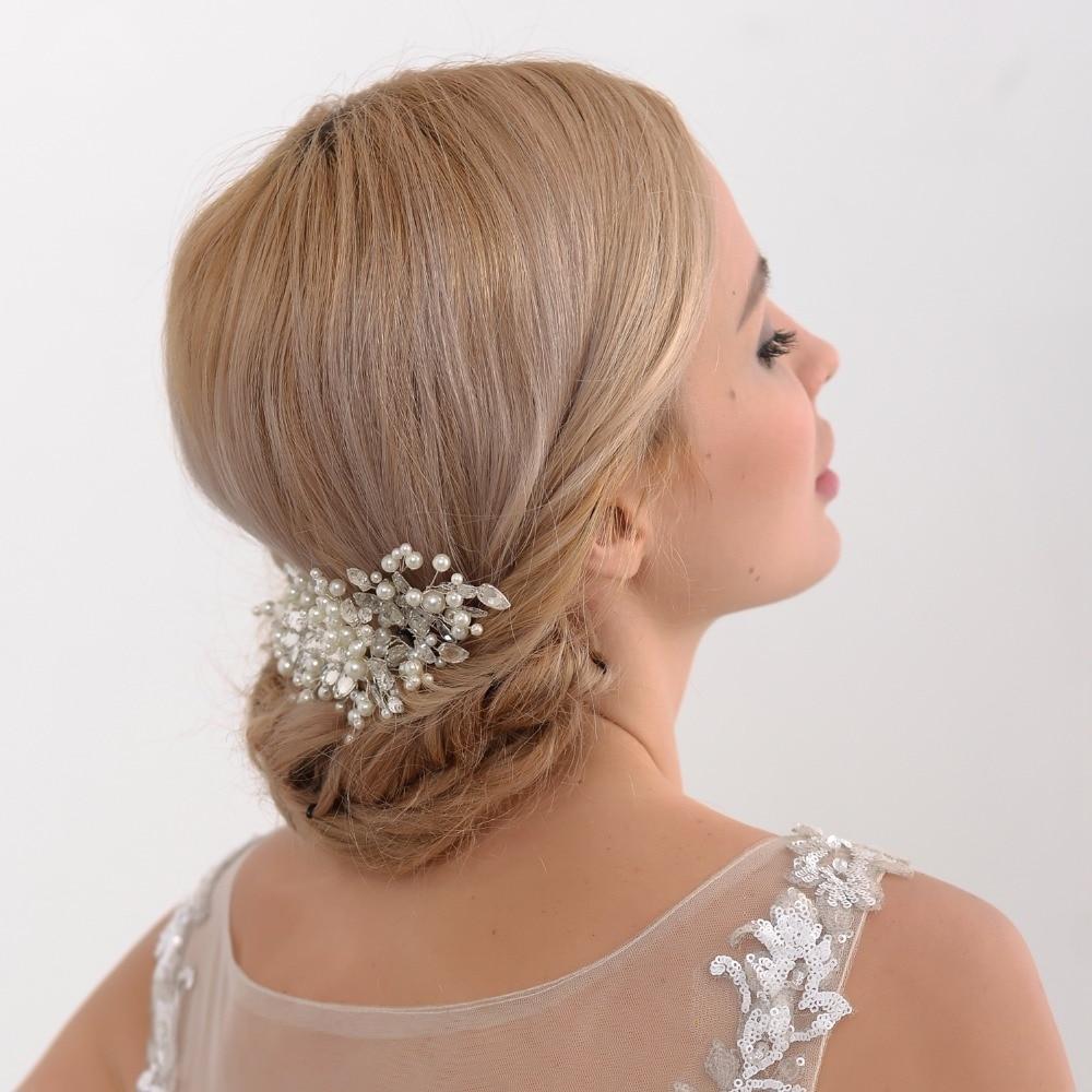 handmade romantic luxury beads wedding headband with ribbon bridal