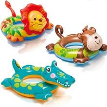 Animal Summer Kids Child Cartoon swim ring lion Monkey Crocodile Inflatable Swimming boat Game Floating toys Water pool tube