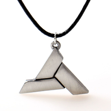 Abstergo Steampunk Game Assassins Creed Necklace Alloy collier Jewelry Pendants Charm Necklace Leather Rope Men s