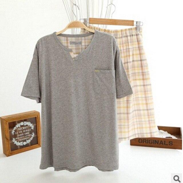 Men's Kintted Cotton   Pajamas Man pajamas sets Man sleepwear piyamas menD1