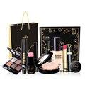 9Pcs/lot Professional Brand Makeup Set Eyeshadow Palette Eyebrow Liquid Foundation Lipstick Blusher Concealer Naked Make up