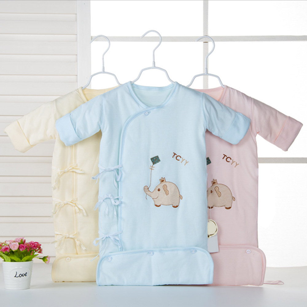 Cute Newborn Infant Baby Sleeping Bag Cotton Sleep Sack Baby Anti Kick Quilt Detachable Sleeve Pajamas