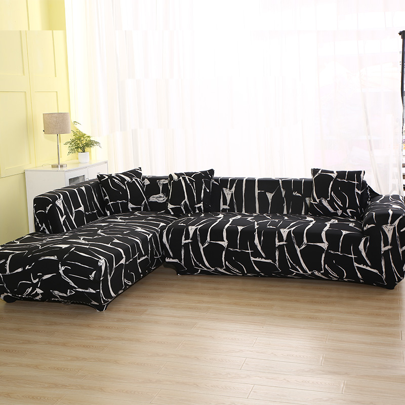 Geometric Pattern 1 Piece/ 2 Pieces Sofa Cover for L Shaped Sectional Sofa Couch Cover Sofa Towel Sofa Covers for Living Room