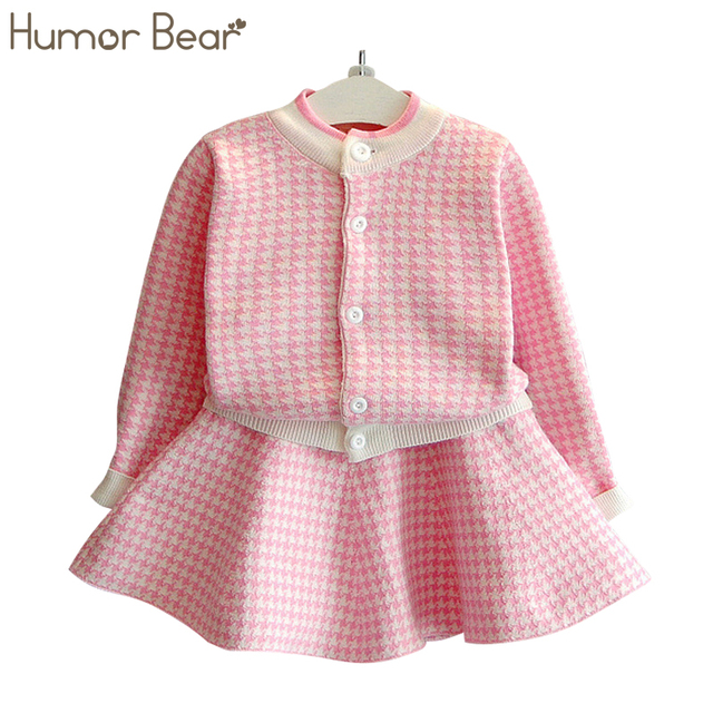 US $13 4 40% OFF|Aliexpress com : Buy Humor Bear kids clothes Autumn 2018  New Girls Clothing Sets Casual Long Sleeve Plaid Jackets+Skits 2Pcs Suits