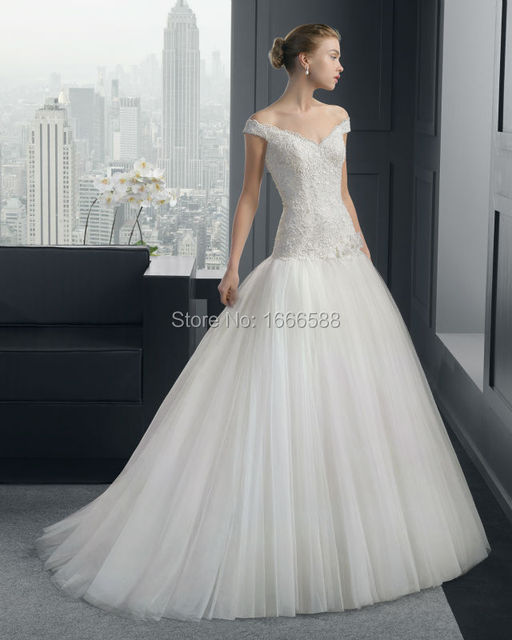 Free Shipping Wd 1983 Off The Shoulder Ball Gown Iraq Bridal Dresses