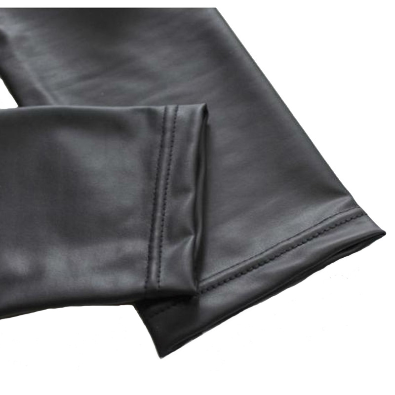 CUHAKCI Legging Free dropshipping Women Hot Sexy Black Wet Look Faux Leather Leggings Slim Shiny Pants Plus size S M L XL XXL 6
