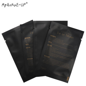Image 1 - 1000 pairs Eyelashes Paper Patches Tips Sticker Wraps Under Eye Pads Black Package For Makeup Tools Eyelash Extension