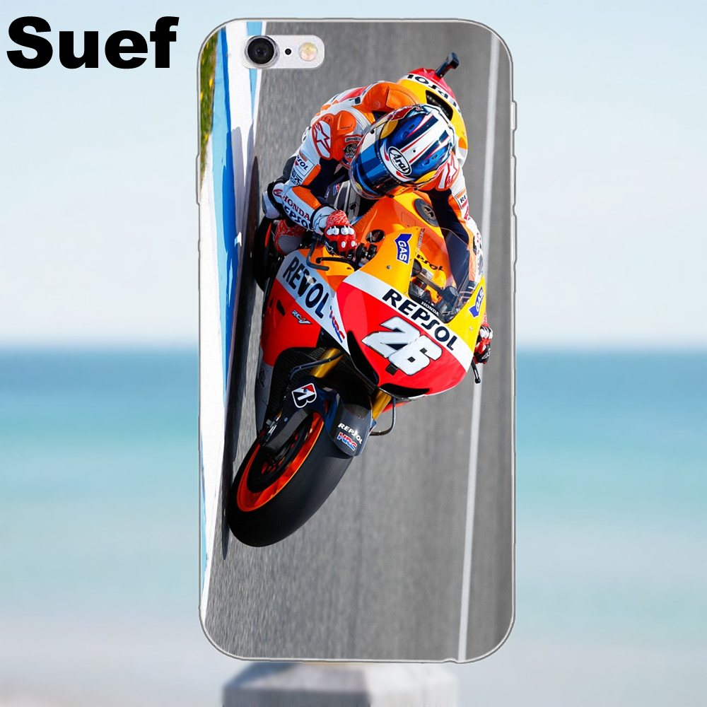 TPU Protector Phone Cases Dani Pedrosa For iPhone 4 4S 5 5S 5C SE 6 6S 7 8  Plus X Samsung Galaxy A3 A5 J1 J3 J5 J7 2016 2017-in Half-wrapped Case from