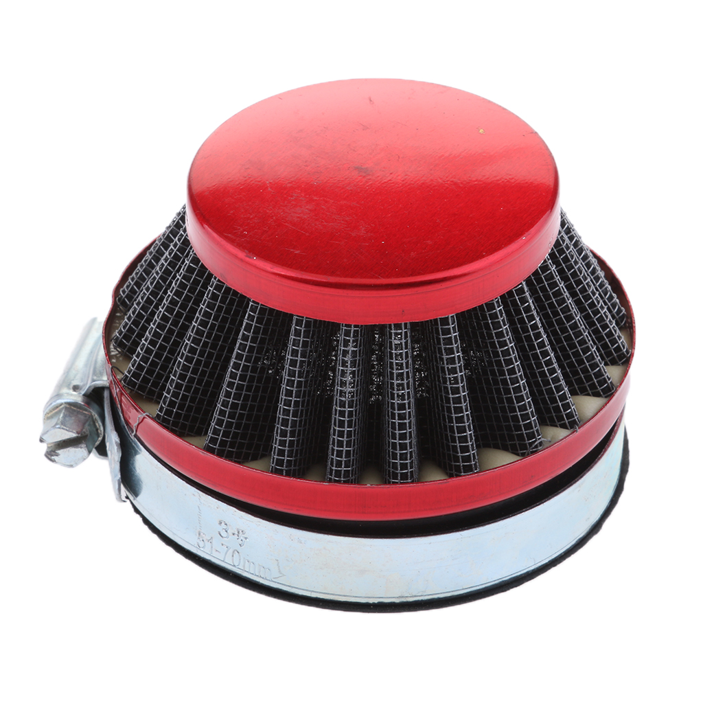 1 Pcs 58mm Cone Air Filter With Rubberneck Coupler For 2.28? Inside Opening Carburetors 49CC 80CC 2 Stroke ATV Motorcycle Etc
