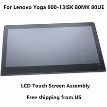 13.3″ IPS Touch Glass Digitizer + LCD Screen Display Assembly+ Bezel For Lenovo Yoga 900-13ISK 80MK 80UE 80MK003CUS 80UE003AUS