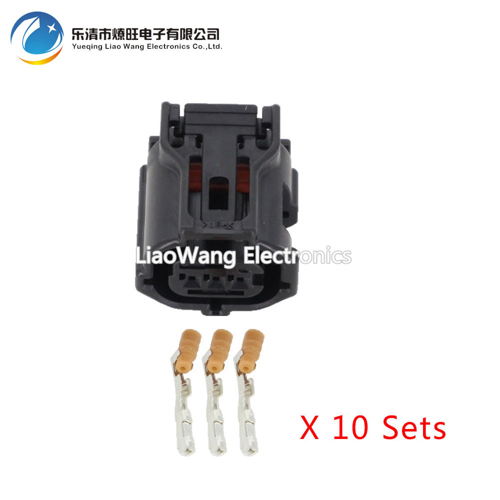 10 Sets 3 Pin 0 6 series black car waterproof connector harness connector DJ7032Y 0 6 21 3P in Connectors from Lights Lighting