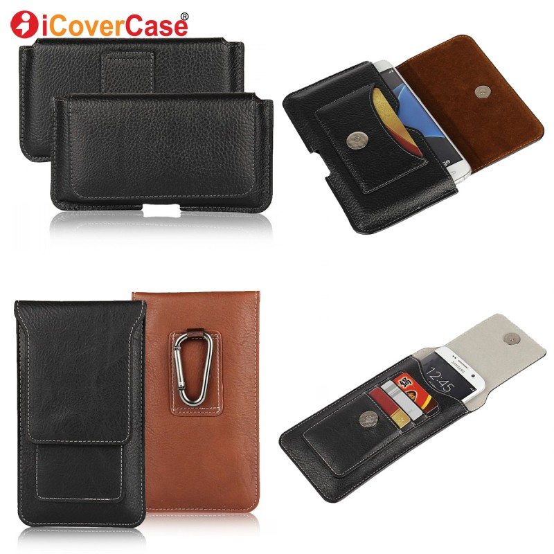new arrival 3d1b8 b40a2 US $4.62 35% OFF|Belt Clip Case For Samsung Galaxy S9 S8 S6 S7 Edge Plus S5  S4 S3 Mini Note 8 5 4 3 2 Case Leather Pouch Holster Waist Phone Bag-in ...