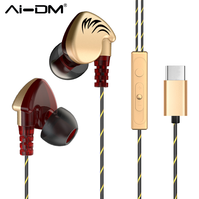 AIDM L3 Earphones Sport Running In-ear Wired Type-c Headset With Mic Hifi Stereo Earbuds For xiaomi Leeco Le Max2/Pro/3 Earphone aliter perfumed type c earphone in ear line control with mic for letv leeco le 2 pro ma