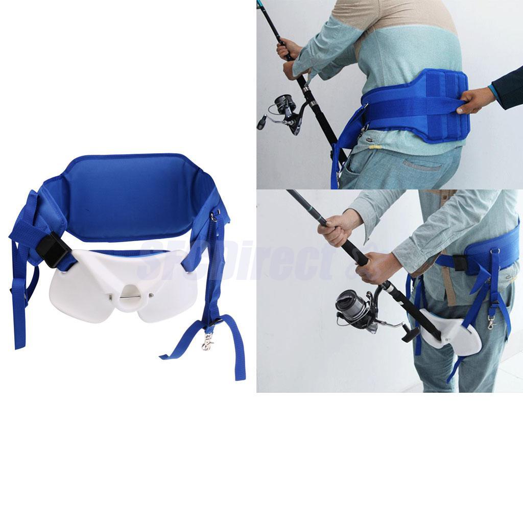 EVA Padded Fishing Waist Support Harness Stand Up Adjustable Fighting Belt Rod Holder