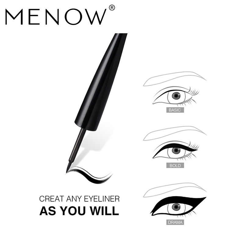 MENOW Merek Make up set 8 warna Lip Gloss Palette & Hitam Maskara tahan air & Cepat Kering Liquid Eyeliner & Alis drop kapal 5440