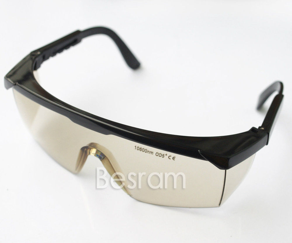 10.6um CO2 Laser Goggles Protective 10600nm OD5+ Eyewear Glasses Absorption CE 800nm 1700nm od4 900nm1100nm od5 laser protective goggles safety glasses 52