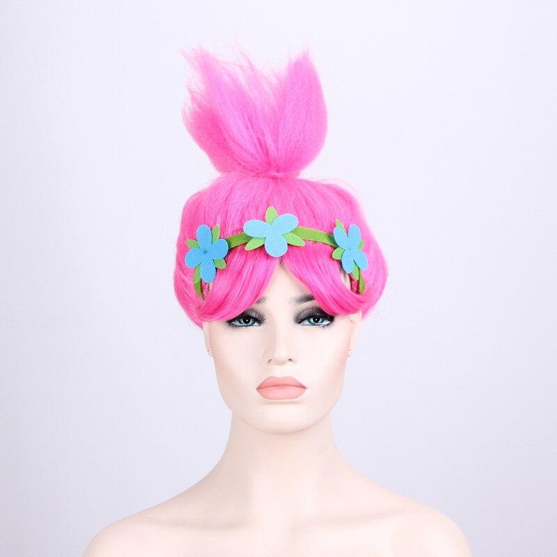 15 шт./лот Тролли Мак парик шляпа для Детский парик с повязкой на голову детей Товары для маскарадной вечеринки Искусственные парики