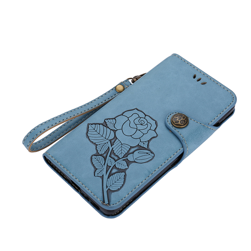 Luxury Leather Flip Wallet 3D Rose Soft Phone Silicone Case Cover Shell Coque Fundas for xiaomi Mi 6 Redmi 3S 3X Note 3 4 4X in Flip Cases from Cellphones Telecommunications
