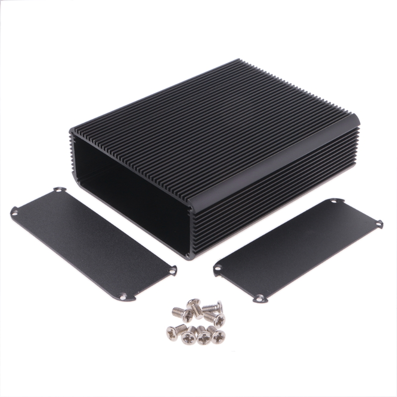 OOTDTY 150x120x45mm DIY Aluminum Case Electronic Project PCB Instrument Box High Quality electric nail drill machine 60w file pedicure grooming kit bits pro salon machine fast machine manicure pedicure kit gold