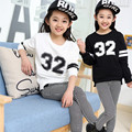 New Children Clothing Leisure Suit Grils And Boys AutumnTwo-piece Uniform Children Numbers  Suit Children's Clothes 5-16Y