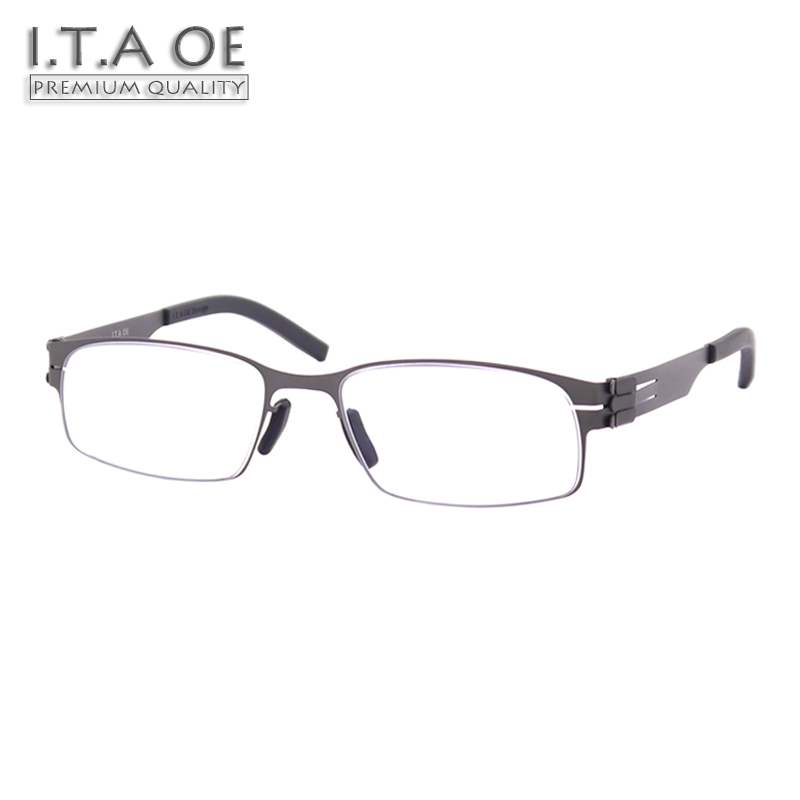 ITAOE Model Grant No Screws Screwless Stainless Steel Men Optical Prescription Glasses Eyewear Frames Spectacles 138mm itaoe model 404 high quality acetate men optical prescription glasses eyewear frames spectacles 141mm