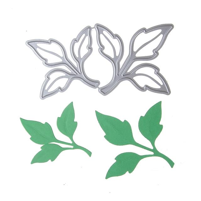 Gentil 100*50mm Leaves Cutting Dies Scrapbooking Embossing Metal Dies Cut Stencils  DIY Decorative Cards Home