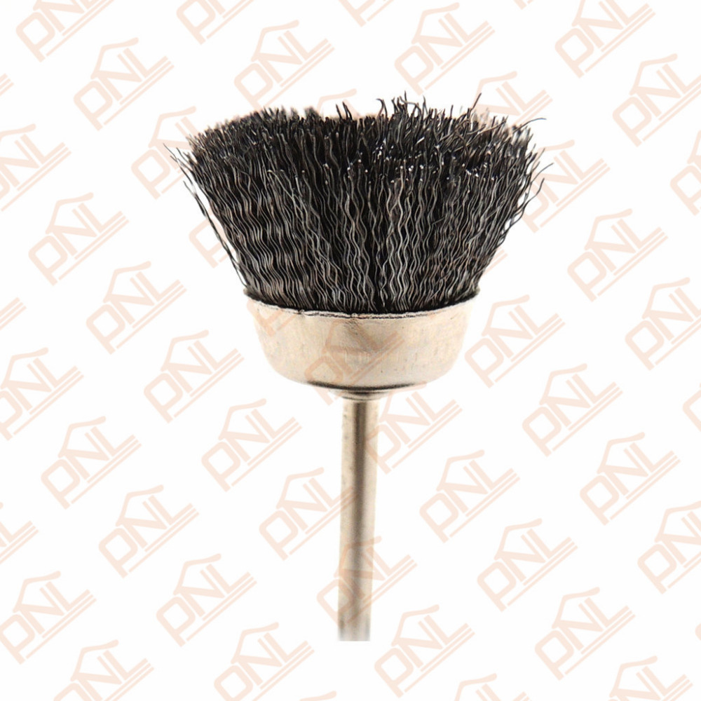 10x rotary mini tools steel wire wheel brushes cup rust cleaning - 1 Cup Brush Mini Wire Brush For Dremel