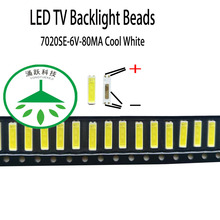 100pcs/lot Original led 7020se 6v 80ma 0.5w lamp beads cool white for repair led lcd tv backlight light bar chip hot 2pcs lot mst6m181vs lf z1 tv led lcd driver chip