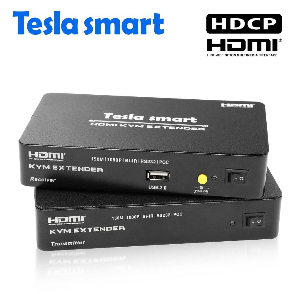 Freundschaftlich Tesla Smart Multi-funktion Poc Hdmi Kvm Extender 150 M Hdmi Kvm 1 Extender Tx + 1 Extender Rx Audio Extender Durch Cat5e/6