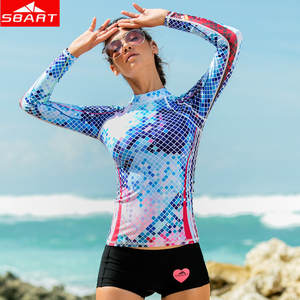 bf27c914fa SBART Bathing Suits Jacket Swimwear Swim Long Sleeve Shirts UV Protection  Girl Surfing
