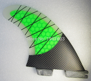 Image 2 - Colorful Surfboard Fin green orange Thruster Future FCS1 II Surf fins G5 M carbon Fiberglass Surfing Accessoire
