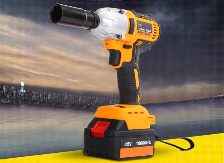 New 1 2 Li Ion 320n M Cordless Impact Wrench With Brushless Motor Electric Car Tyre Wheel Drill In Wrenches From
