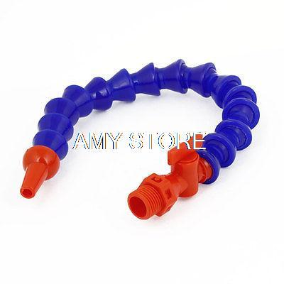 16.1 Length 1/2 BSPT Thread Flat Nozzle Flexible Plastic Water Oil Coolant Pipe milling cnc switch control water oil coolant pipe hose 1 4 bspt thread