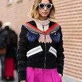 Mulheres Jaqueta de moda Monstro Olho Cílios Patchwork Faux Fur Lã Fina Parka Verdadeira Pele De Guaxinim Luxo Casaco de Inverno Senhora Outwear