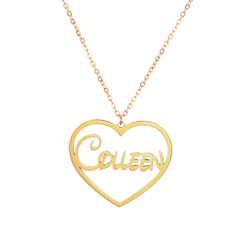 Love Heart Custom Cursive Name Pendant Necklace Stainless Steel Initials Choker for Women Choker Any Font Necklace Best gift gorgeous bell pendant choker necklace for women