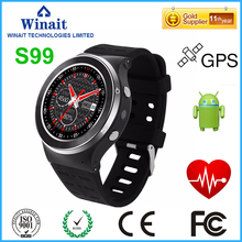 Winaitดูสมาร์ทWIFI + 3กรัม+ GPS +ซิมการ์ดอัจฉริยะนาฬิกาข้อมือs99ซิมการ์ดดูสมาร์ทโทรศัพท์3กรัมs mart w atch
