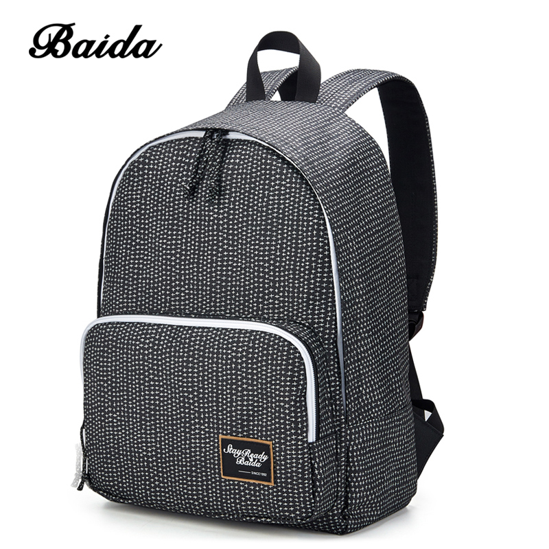 BAIDA Fashion Women Backpack High Quality Notebook Bolsa Mochila Laptop Computer Female Bags Travel School Daypack for College dispalang personalized geometric backpack for laptop notebook school bags for college students men s travel bag rucksack mochila