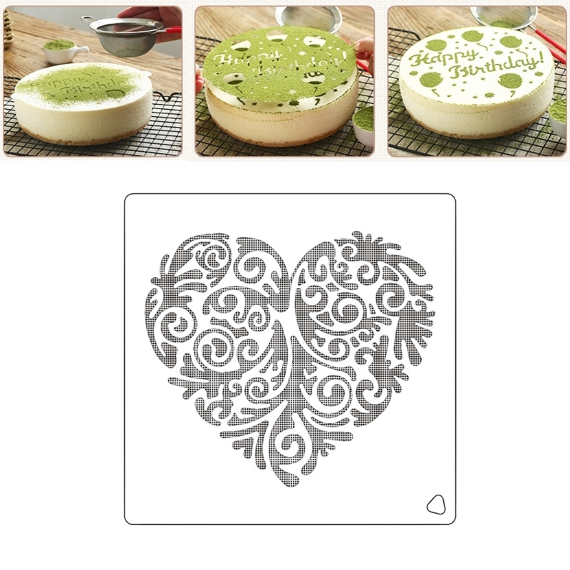 Love Heart Spray Flower Cake Molds Plastic Fondant Cutter Cake Decorating Molds Biscuit Cutter Mar
