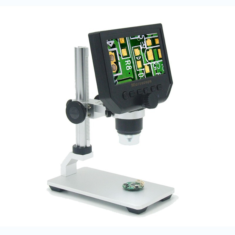 600x digital microscope mobile phone maintain magnifier 4 3 lcd electronic video hd microscopes rechargeable endoscope camera 4.3 LCD Electronic HD Video Microscopes USB Endoscope Magnifier Camera Al-alloy Stent Portable 600X 3.6MP Digital Microscope